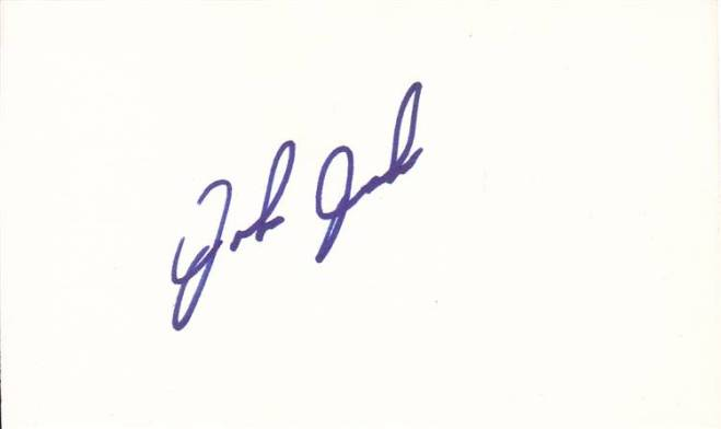 John Jaha Signed Index Card
