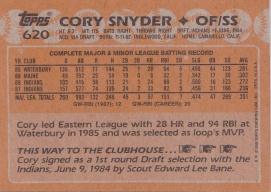 #620 Cory Snyder (back)